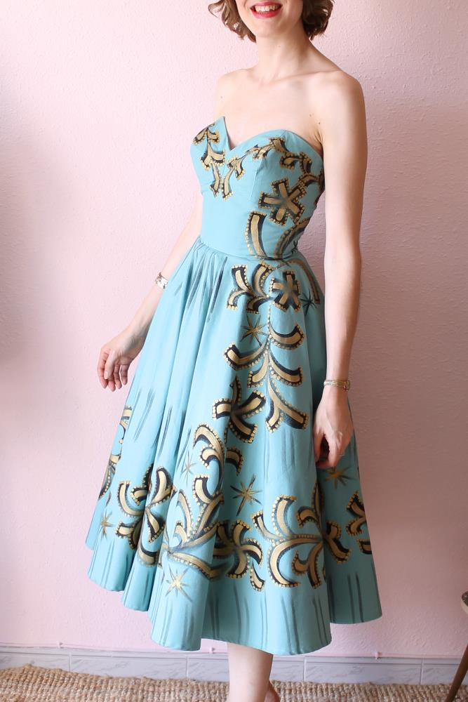 Mexican handpainted dress -